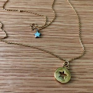 Fossil Double Layer Necklace - star
